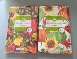 Elrene Vinyl Tablecloth Fall Leaves Pumpkins Thanksgiving NEW U CHOOSE S... - $19.68 - $24.63
