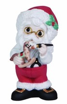 Precious Moments Annual Porcelain Santa with Rocking Horse Figurine Chri... - $24.75