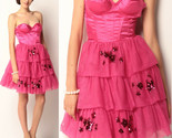 $468 Betsey Johnson Evening Hollywood Hills Fuchsia Corset Bustier Tulle Dress 2