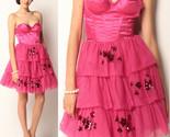 $468 Betsey Johnson Evening Hollywood Hills Fuchsia Corset Bustier Tulle Dress 2