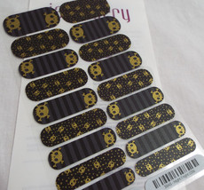 Jamberry NIght Fright 0316 39A5 Heat Activated Nail Wrap Full Sheet - $15.14