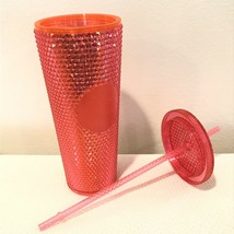 Starbucks 2019 Neon Pink Studded Cold Cup Tumbler Christmas Holiday Vent... - $46.73