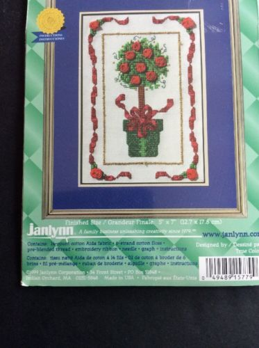 Janlynn Christmas Topiary Tree Counted Cross Stitch Kit True Colors 157-79 5x7