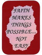 """Faith Makes Things Possible Not Easy 3"""" x 4"""" Love Note Inspirational Sayings Poc - $2.69"""
