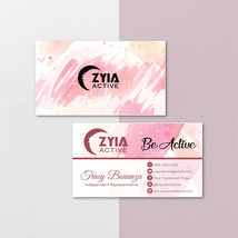 Zyia Active Business Card, Custom Zyia Active Business Cards, Zyia Activ... - $9.00
