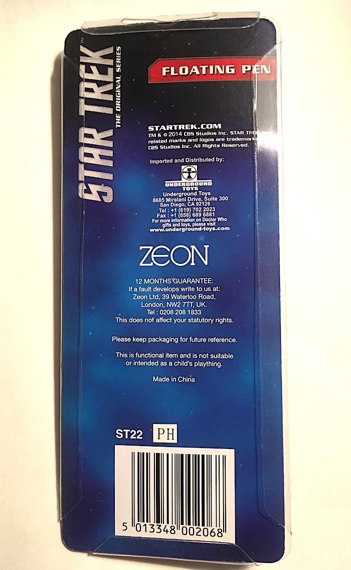 Star Trek TOS Enterprise Floating Pen New & Never Removed From Original Package