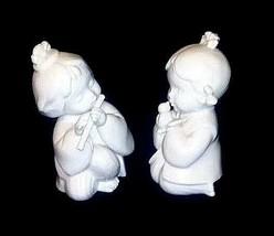 Ceramic Girl Figurines 2 Vintage AB 473 image 2