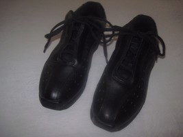 FRONTLINE CAPEZIO LADIES BLACK LEATHER DANCE SHOES-11.5-GENTLY WORN-LACE... - $16.00