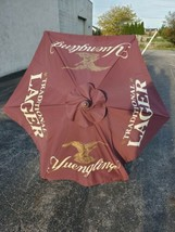 Yuengling Lager Beer 7' Wood and Brass 6 panel Umbrella Bar Patio Pool O... - $80.40