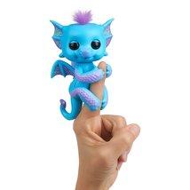WowWee Fingerlings - Glitter Dragon - Tara (Blue with Purple) - Interact... - $10.58