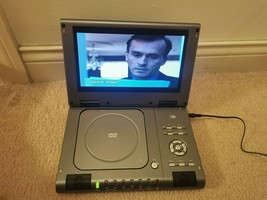 """TESTED DuraBrand 9"""" Portable Stereo DVD Player Model DPX3290L  w/o adaptor - $26.18"""