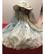"""Antique 30"""" German Bisque Head Doll in Gown - Elizabeth 16/50 - $200.00"""