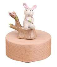 Cute Rabbit Mechanical Classical Collectible Music Box, Plays Castle in the Sky - £31.29 GBP
