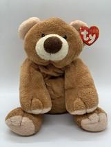 "Ty Pluffies Slumbers Bear Brown Cream 2002 Plush Stuffed Beanie 8"" Lovey - $24.74"
