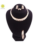 HOT Wedding Dubai Africa Nigeria African Jewelry Set Gold-color Necklace... - $23.78