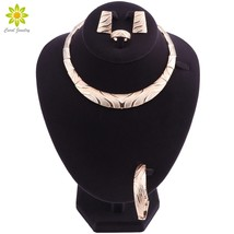I africa nigeria african jewelry set gold color necklace earrings romantic woman bridal thumb200
