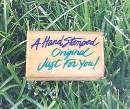 Rubber Stampede Stamp Handstamped Just For You Posh Impressions Original  - $14.84