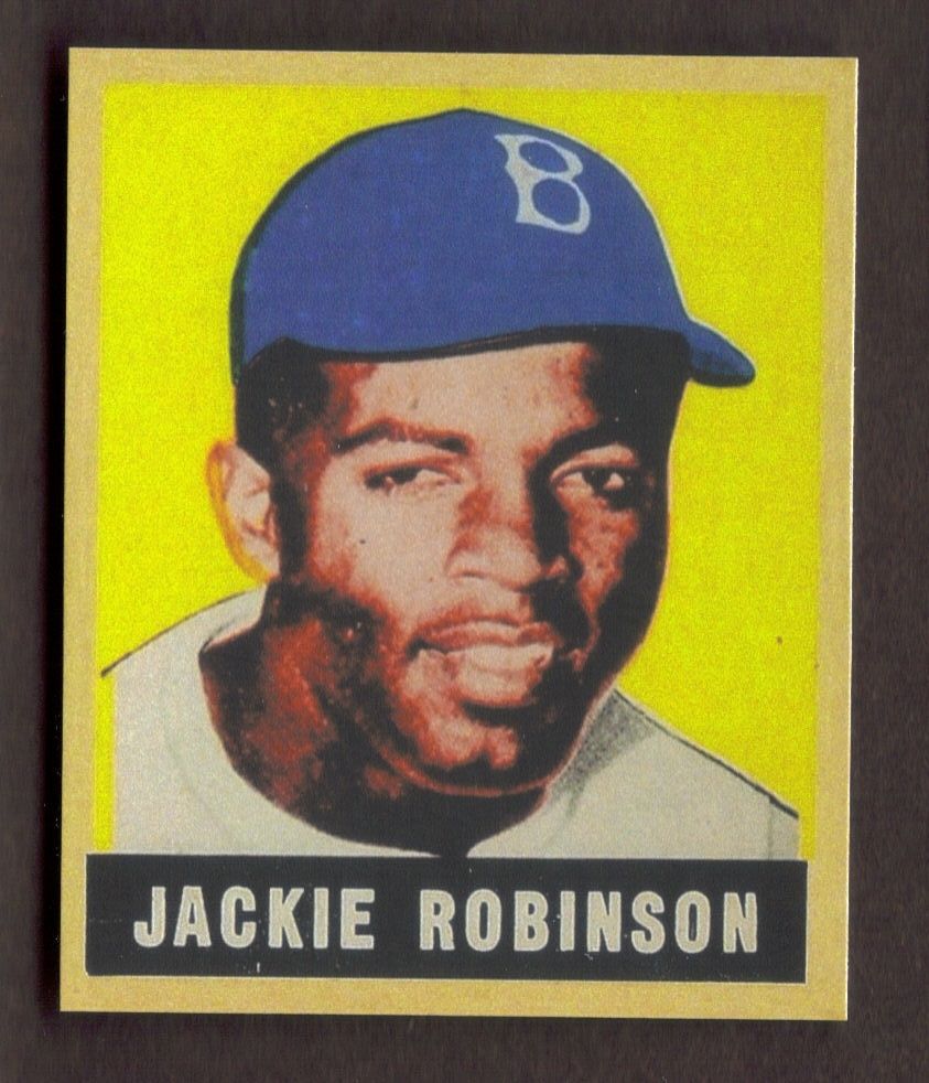 JACKIE ROBINSON Rookie Card RP #79 Dodgers RC Auto 1949 L