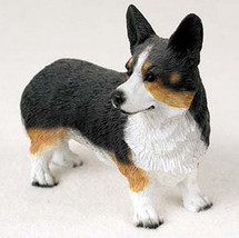 WEST CORGI CARDIGAN DOG Figurine Statue Hand Painted Resin Gift Pet Lovers - $16.74