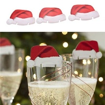 140 Pack - New Christmas Champagne Wine Glass Hat Holiday Party Decor - Red - $45.70