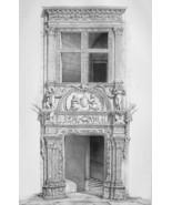 FRANCE Valence Renaissance Maison Dupre-Latour House - SUPERB 1843  Print - $53.96