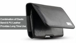 J&D Holster Compatible for Samsung, Synthetic Leather, Black image 5