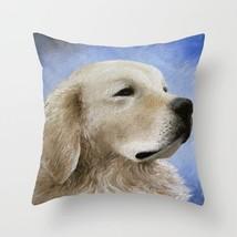 Throw Pillow Case Cushion cover Made in USA Dog 98 Golden Retriever art L.Dumas - $29.99+