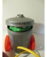 VINTAGE 1977 FISHER PRICE OSCAR THE GROUCH POP-UP PULL TOY #177 SESAME S... - $8.90