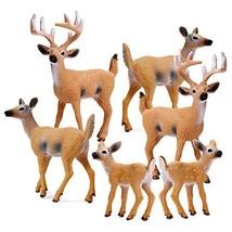 RESTCLOUD Deer Figurines Cake Toppers, Deer Toys Figure, Small Woodland Animals