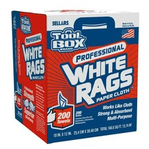200 new industrial shop Paper cleaning towels white large towel brand - $24.00