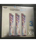 iPHONE XR SHATTER GUARDZ 3 PACK premium Tempered Glass Screen Protector - $14.99
