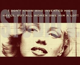 Digital Download Marilyn Monroe High Heels Poster Print Canvas Paper Art... - $10.00