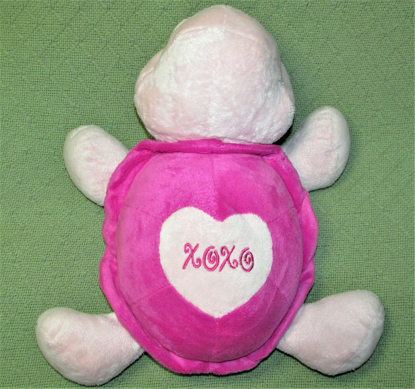 "Primary image for 15"" Aurora People Pals PINK TURTLE ValentinePlush Stuffed Animal BIG EYES Large"