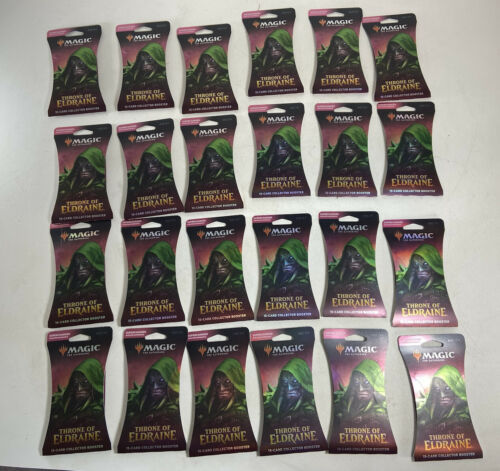 (24) Magic The Gathering: Throne of Eldraine Collector Booster Pack Lot Blister  - $494.99