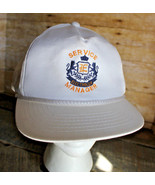Vintage ELECTROLUX Service Manager Trucker Hat White Snapback Employee Cap - $38.69