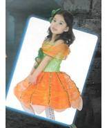 Pumpkin Girl Costume child XL orange extra large 10-14 Halloween dress h... - $16.77