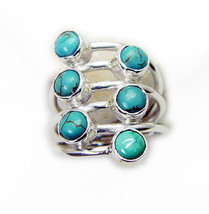 bonnie Turquoise 925 Sterling Silver Multi Ring Natural supplies US - $39.59