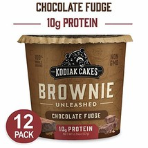 Kodiak Cakes Chocolate Fudge Brownie in a Cup, 2.36 Ounce Pack of 12 Packaging M