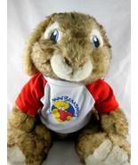 "Hop Movie E B Rabbit 14"" Plush Easter w Annibearsary shirt Build A Bear BAB - $14.84"