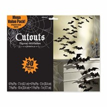 amscan Cemetery Bat Cutouts | Halloween Decoration - $15.79