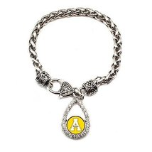 Inspired Silver Appalachian State Mountaineers Teardrop Silver plated Br... - $590,81 MXN
