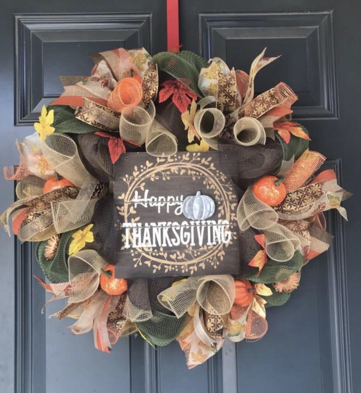 Primary image for Thanksgiving wreath, fall wreath, thanksgiving decor, rustic wreath, farm house