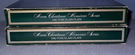 Avon Christmas Memories Plates 1981 1982 with boxes Christmas Tradition & Spirit - $12.99