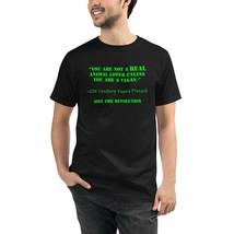 Unisex Organic T-Shirt Eco Friendly Men and Women Sustainable Vegan Anim... - $31.68+