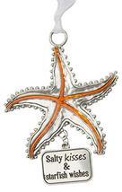 Gnz Life is a Breeze Inspirational Zinc Ornaments -Salty Kisses & Starfish Wishe - $7.43