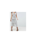 ASOS Design Stripe Tiered Leg Jumpsuit Size US 8 NWT - $24.74