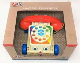 Fisher-Price Chatter Telephone Pull Along Moving Eyes Classic Retro Toy - $22.50