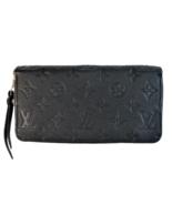 Louis Vuitton Monogram Empreinte Leather Black/Noir Zippy wallet - $699.00