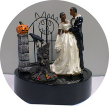 Black African Hispanic American Halloween Cake Topper Gothic Groom top R... - $39.50