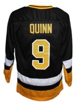Custom Name # Cleveland Lumberjacks Retro Hockey Jersey Black Quinn #9 Any Size image 2